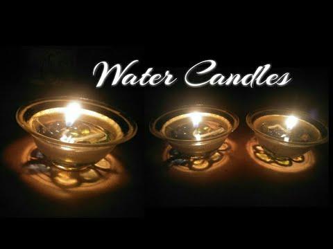 DIY Water Candles/ Water Diyas/Diwali Decoration/How to make Water Candles at home/no wax candles