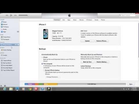 Update Iphone IOS7 0 4 using the itunes