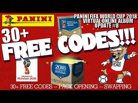 ⚽ HUGE 30+ FREE CODES !! | Panini FIFA WORLD CUP 2018 STICKER ALBUM  ⚽ VIRTUAL ONLINE!