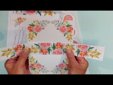How to add and envelope liner, bellyband and sticker to your inspired by script wedding invitations