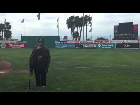 Star Spangled Banner (Juanita Harris @ SJGiants Municipal Stadium)