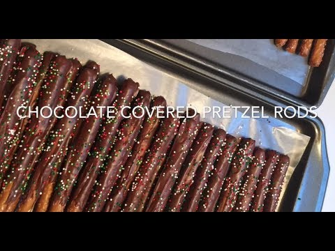 Chocolate Covered Pretzel Rods - Easy Christmas Treat!