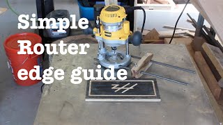 Simple router edge guide