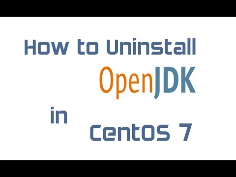 How to uninstall OpenJDK in CentOS 7
