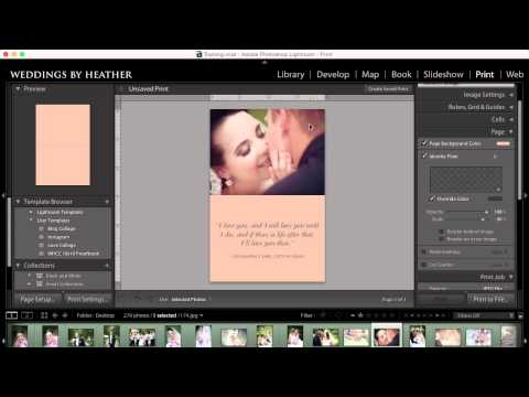 Lightroom Tutorial - Creating a Collage in the Print Module Part 3