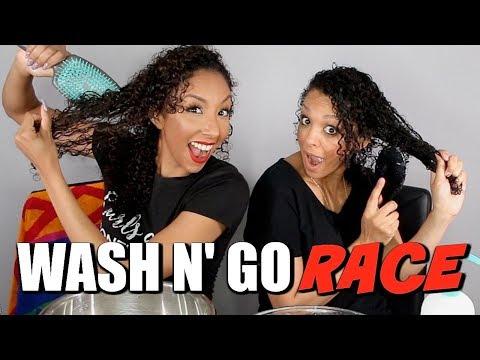 WASH N' GO RACE W/BIANCA RENEE | CURL-FRIEND CHALLENGE | DISCOCURLSTV