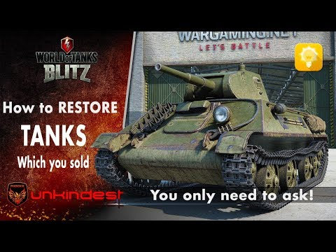 💡How to RESTORE multiple tanks you sold || WoT Blitz