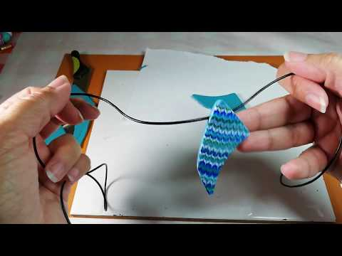 Combed/Feathered/Marbled Polymer Clay Pendant Tutorial