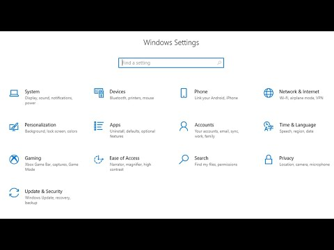 Configure your Windows 10 Settings