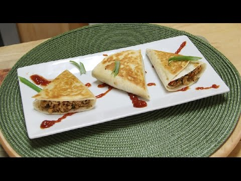 Chilli Paneer Triangles Recipe Video | Lunch Box Ideas from Bhavna's Kitchen