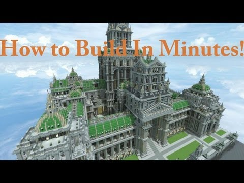 MINECRAFT HOW TO BUILD BIG EPIC CREATIONS WITHIN MINUTES!!!!!!!