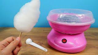 Самый дешевый аппарат для сахарной ваты с Алиэкспресс. О чудо! Он работает! Сладкая вата!