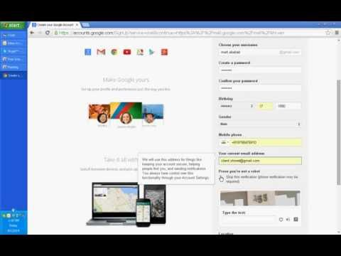 How to create gmail Account or google account