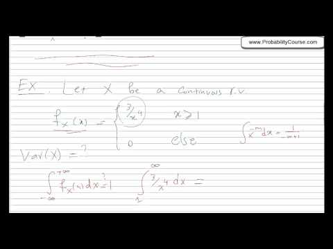 28-Variance for Continuous Random Variables
