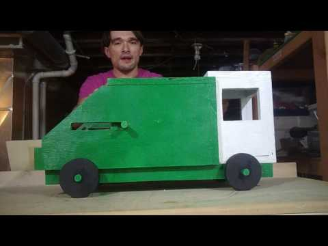 My Big Homemade Plywood Toy Garbage Truck