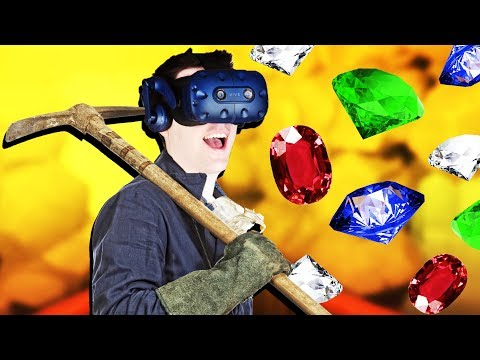 DIGGING for JEWELS, FOSSILS, and OIL in VR! Cave Digger Gameplay - VR HTC Vive Pro
