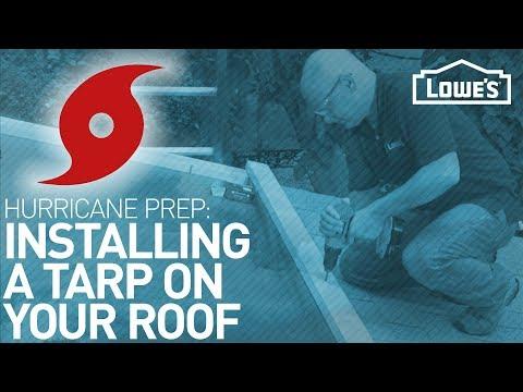 How to Tarp a Roof   HURRICANE PREP