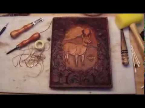 Making a Leather Book Cover