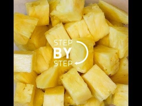 How to Cut Pineapple, How to Cut Pineapple Easily, How to Cut Pineapple Rings, Cut Pineapple Fast
