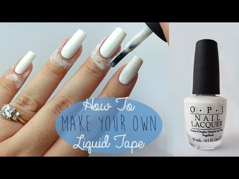 How To Make Your Own Liquid Tape or Peel Off Base Coat Applicator