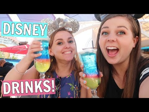 Trying Secret Alcoholic Drinks at Disneyland! The Cove Bar!