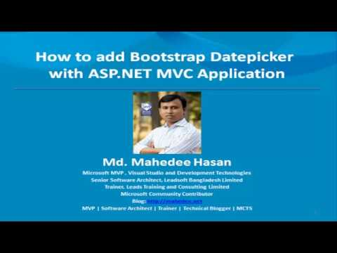 How to add Bootstrap Datepicker in ASP.NET MVC Application