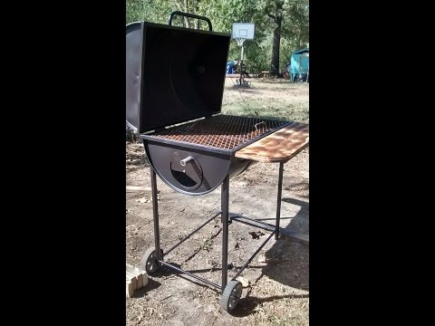 Barrel BBQ smoker build