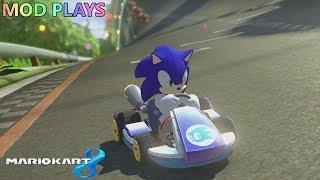 Mod Plays Mario Kart 8 wii u Sonic The Hedgehog