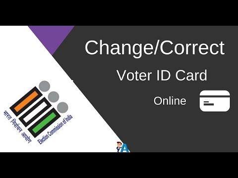 Change/Correct Voter ID Card Details Online