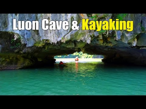 Luon Cave & Kayaking (Hang Luồn Vịnh Hạ Long) in Halong Bay Vietnam ประเทศเวียดนาม