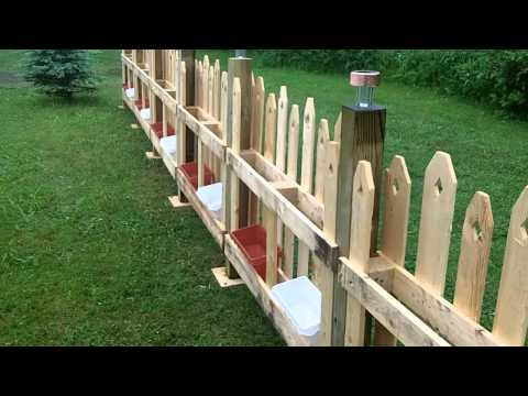 Pallet fence, most beautiful on You Tube