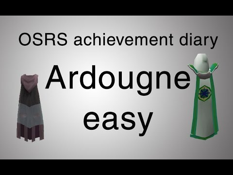 [OSRS] Ardougne easy diary guide