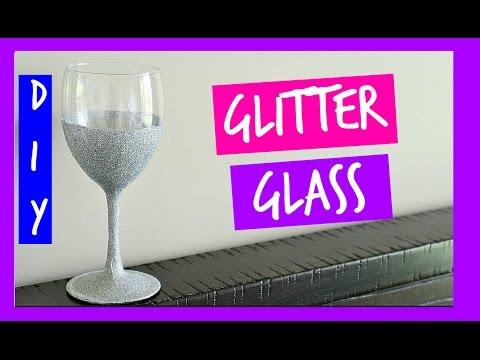 How to Make Glitter Wine Glasses | Dishwasher Safe Glitter Glasses DIY | Ali Coultas
