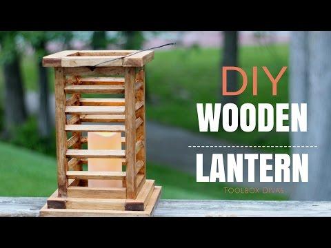 DIY Wooden Lantern - You Can Make this
