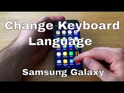 Samsung Galaxy S7 - Change keyboard Language