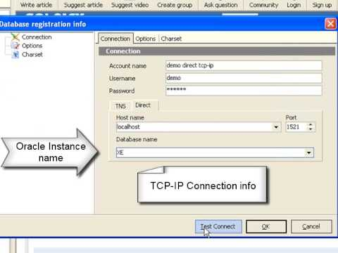 Direct TCP-IP Oracle connection - Connection without OCI