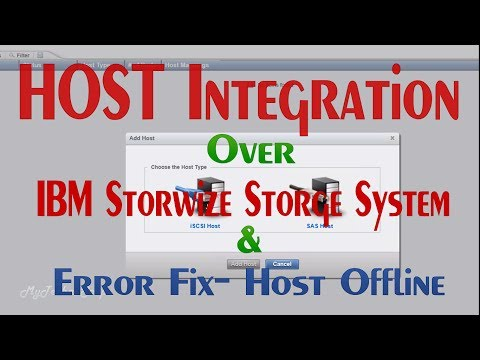 IBM Storwize v3700 configuration part04(Host Integration)
