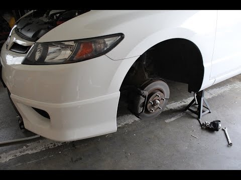 06-11 Civic Si FRONT Brake Pads and Rotors Replacement - How To Replace