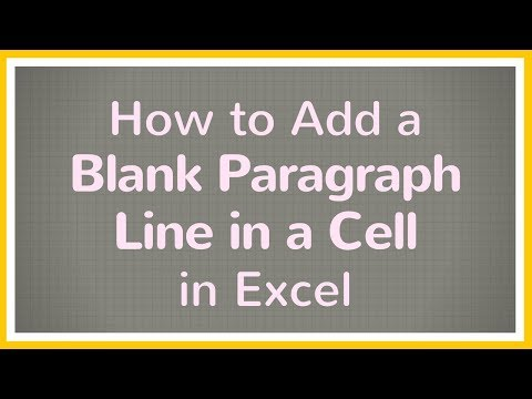 Add a Blank Paragraph Line in Excel Cell - Tutorial