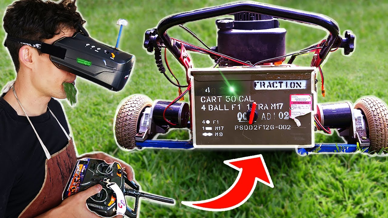 I Made A Robot Lawn Mower Controlled By VR!