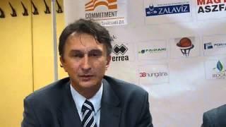 Sitku Ernő értékel a ZTEkk-NYKK kosárlabda mérkőzés után
