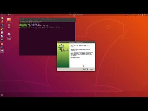 Install Wine And Run Windows App  On Ubuntu 18.04