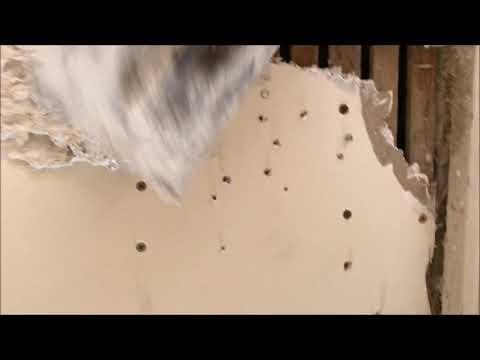 Plasterboard Drywall Crack Repairs using Cornice Cement