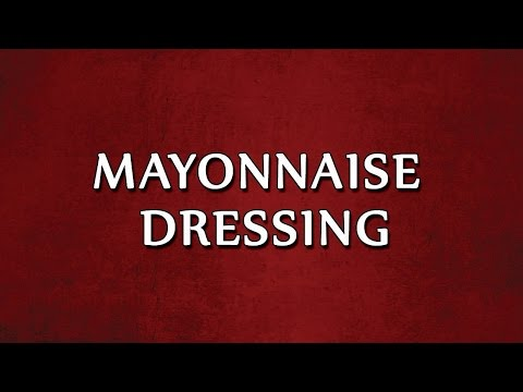 MAYONNAISE DRESSING  3 | SALAD RECIPES | EASY TO LEARN
