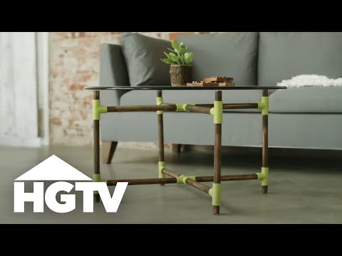 DIY Coffee Table With Pipes & Dowels - HGTV
