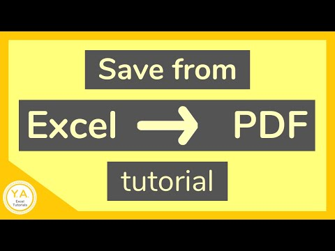 How to Save an Excel File as PDF - Tutorial