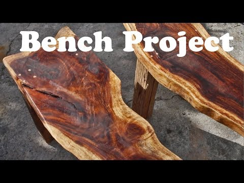 Saman Wood / Monkeypod Wood Natural Edge Bench Project