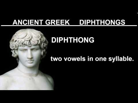 Learn Ancient Greek With Kostas - Lesson 4 - Diphthongs Overview