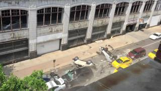 Fast & Furious 8 filming downtown Cleveland (slo mo edit)
