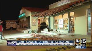 UPDATE: Driver plows through Phoenix restaurant